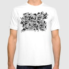 Creative Pet Project 001 White MEDIUM Mens Fitted Tee