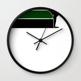 Break lines green Wall Clock