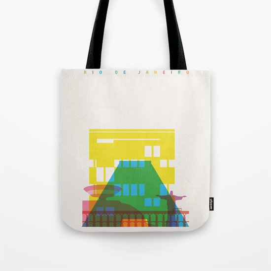 Shapes of Rio. Accurate to scale Tote Bag