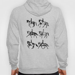 Dressage Horse Silhouettes Hoody