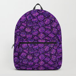 Roll the Dice in Purple Backpack