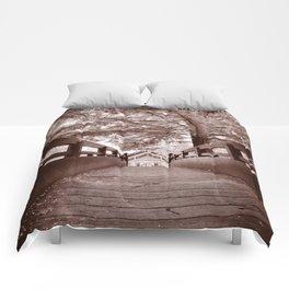 Sepia Bridge Comforters
