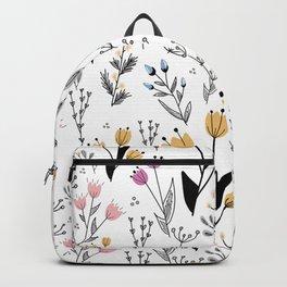 Flower Pattern Backpack