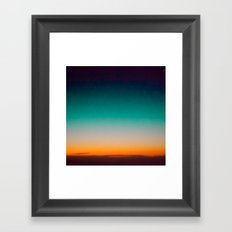 Blue and Yellow Magic Dawn in the Sky Framed Art Print