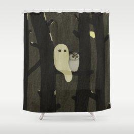 Little Ghost & Owl Shower Curtain
