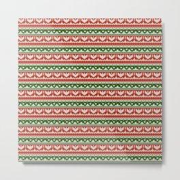 Abstract pattern: christmas Metal Print