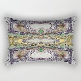 Weather cyclone, acrylic on canvas Rectangular Pillow