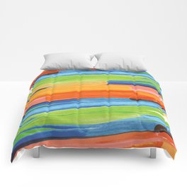 Color yellow red blue green Comforters