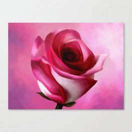 Painting of a Rose Canvas Print