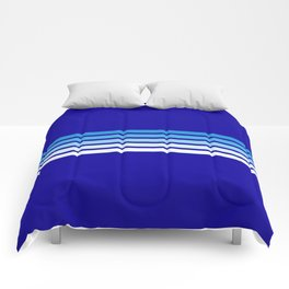 Retro Stripes on Blue Comforters