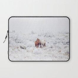 Two Winter Horses Laptop Sleeve