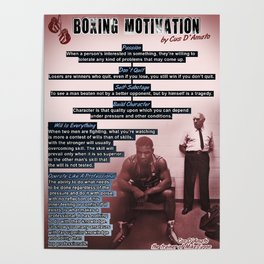 Boxing Motivation, Gym Decor Poster