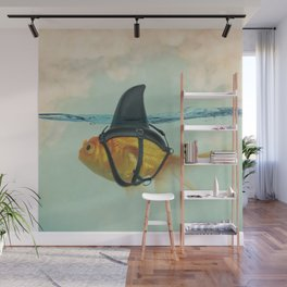 Brilliant DISGUISE - Goldfish with a Shark Fin Wall Mural