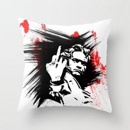 Beethoven FU Throw Pillow