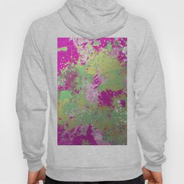 Metallic Pink Splatter Painting - Abstract pink, blue and gold metallic painting Hoody