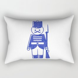 French toy soldier with shotgun, drawing with letterpress effect. Rectangular Pillow