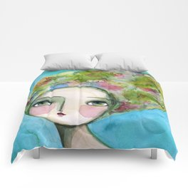 The Muse Of Spring Comforters