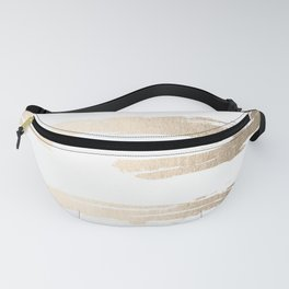 Simply Brushed Stripe White Gold Sands on White Fanny Pack