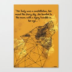 Constellation Wolf Canvas Print