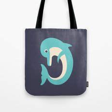 Letter D // Animal Alphabet // Dolphin Tote Bag