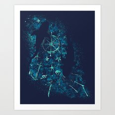For all the Gold Under the Stars Art Print