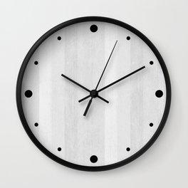 Gray Stripe Pattern Wall Clock