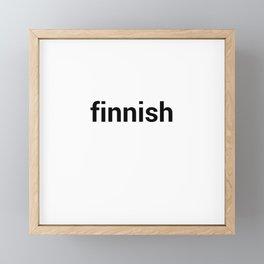finnish Framed Mini Art Print