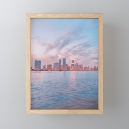 Rickenbacker Causeway / Florida Framed Mini Art Print