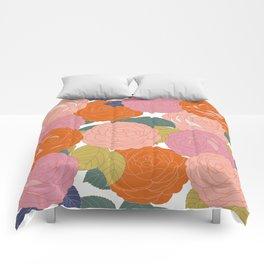 Flowers In Full Bloom Comforters