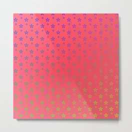 ombre stars large asterisks on red background Metal Print