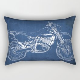 2012 Suzuki DR650SE, motorcycle blueprint, gift for biker Rectangular Pillow