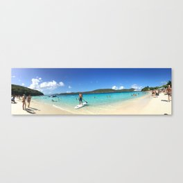 Paddle-boarding in Paradise Canvas Print
