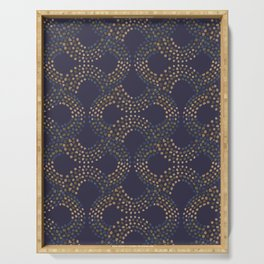 Infinity Dotted Ornaments dark Serving Tray