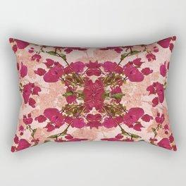 Retro Vintage Floral Motif Rectangular Pillow