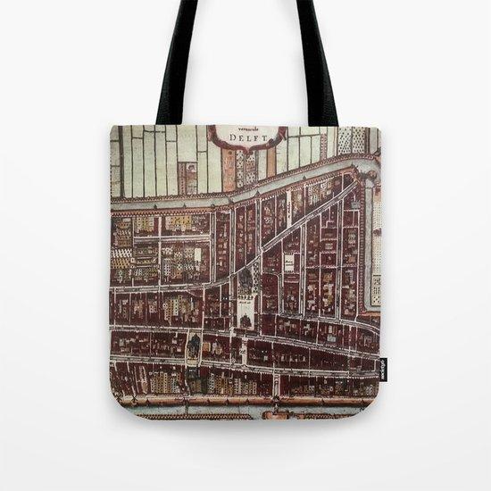 Replica city map of Delft 1649 Tote Bag