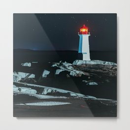 Peggy's Cove Lighthouse Metal Print