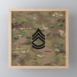 Sergeant First Class (Camo) Framed Mini Art Print