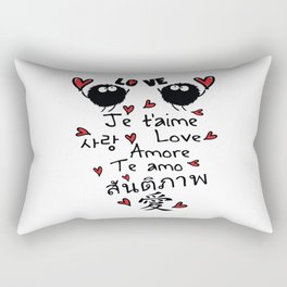 Love in many language Rectangular Pillow