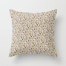 Bugs & Shrooms Throw Pillow