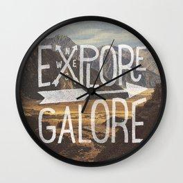 EXPLORE GALORE Wall Clock