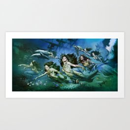 Seven Sirens Art Print