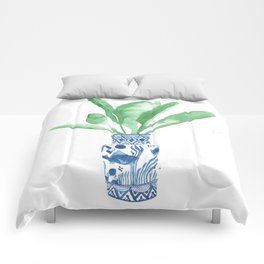 Ginger Jar + Bird of Paradise Comforters
