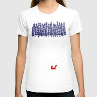 world maps T-shirts featuring Alone in the forest by Robert Farkas
