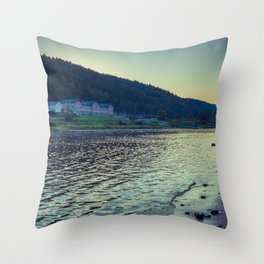 Elbe at Bad Schandau Throw Pillow