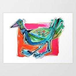 Bird on the Run Art Print