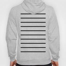 Horizontal Lines (Black & White Pattern) Hoody