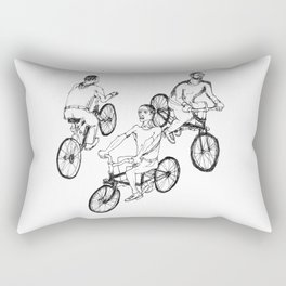 Guys on bikes Rectangular Pillow