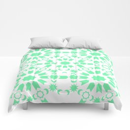 Mint Arabesque Comforters