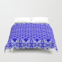 tie dye texture with geometric border Duvet Cover