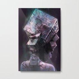 Fluorite Goddess Metal Print